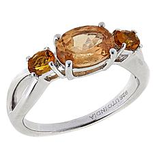 Paul Deasy Gem Hessonite and Gem Sterling Silver Ring