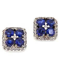 Paul Deasy Gem Kyanite and White Zircon Stud Earrings