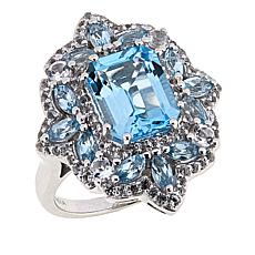 Paul Deasy Gem White Topaz and Gem Quatrefoil-Design Ring