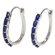Paul Deasy Gems 3.6ctw Kyanite Sterling Silver Hoop Earrings