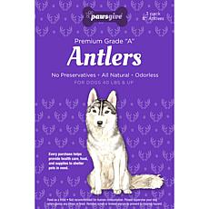 PawsGive  Antlers for Dogs 8 in - 3 Antlers