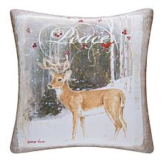 Peace Deer Indoor Outdoor Pillow