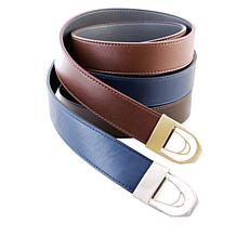 Perfect Match 3-pack Adjustable Reversible Belt Set