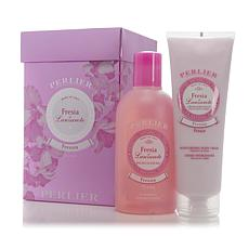 Perlier Freesia Bath & Body Cream Set