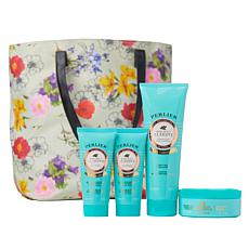 Perlier Golden Almond 4-piece Set with Tote