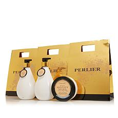 Perlier Honey & Sweet Cream 3-piece Bath and Body Set with Bags AS