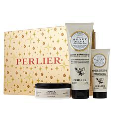 Perlier Raw Sugar Honey 3-Piece Holiday Set