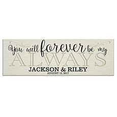 Personal Creations Personalized Forever & Always Canvas