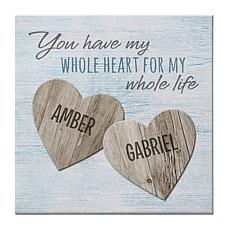 "Personal Creations Personalized Two Hearts Canvas - 11"" x 11"""