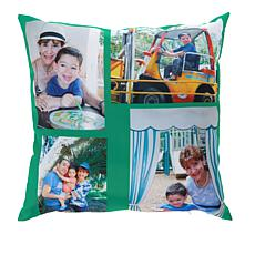 """Personalized 16"""" x 16"""" Photo Throw Pillow Cover"""