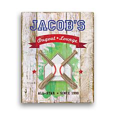 "Personalized Baseball Canvas - 11"" x 14"""
