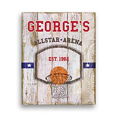 """Personalized Basketball Canvas - 11"""" x 14"""""""