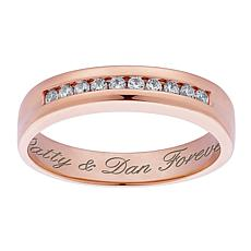 Personalized CZ Wedding Band Ring
