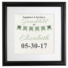 "Personalized ""Grandparents' Love"" Square Framed Print - 16"" x 16"""