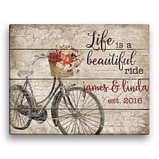 """Personalized Life is a Beautiful Ride 11"""" x 14"""" Canvas"""