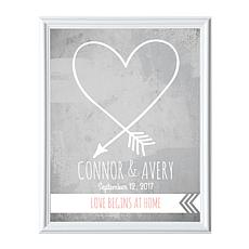 "Personalized ""Love Begins at Home"" Framed Print - 11"" x 14"""