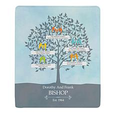 "Personalized ""Loving Family Tree"" Plush Blanket - 50"" x 60"""