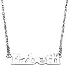 "Personalized Lowercase Printed Name 21-1/4"" Necklace"