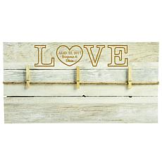 "Personalized Rustic ""Love Heart"" Wooden Pallet Wall Art"