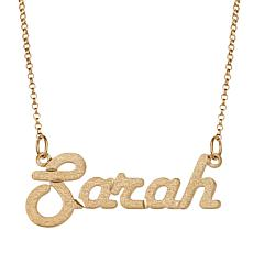 Personalized Satin Script Name Necklace