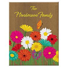 "Personalized Spring Flower Canvas - 11"" x 14"""