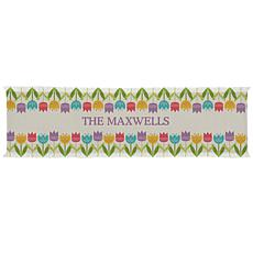 "Personalized Spring Tulip Table Runner - 16"" x 70"""