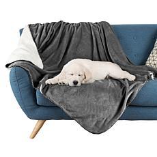 "Pet Adobe 60"" x 50"" Waterproof Pet Throw Blanket Gray"