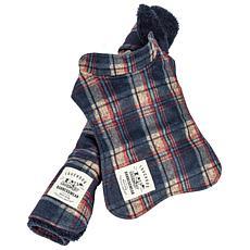 Pet Life 2-in-1 Tartan Dog Jacket with Reversible Dog Mat - Medium