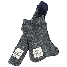 Pet Life 2-in-1 Windowpane Plaid Dog Jacket w/Matching Dog Mat - S