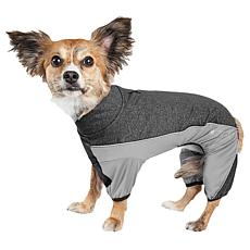 Pet Life Active Chase Pacer Two-Toned Full Body Dog Warmup Suit