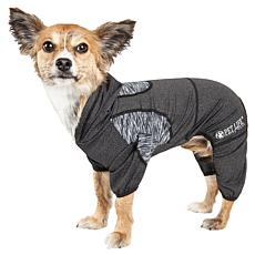 Pet Life Active Pawsterity Two-Toned Dog Warmup Suit w/Hoodie