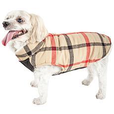 Pet Life Allegiance Classic Plaid Insulated Dog Coat