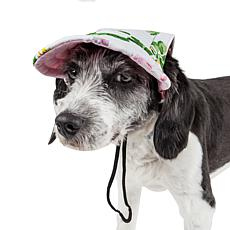 Pet Life Botanic Bark Floral Adjustable Fashion Dog Hat - Large