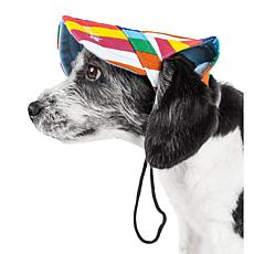 Pet Life Colorfur Rainbow Stripe Adjustable Fashion Dog Hat