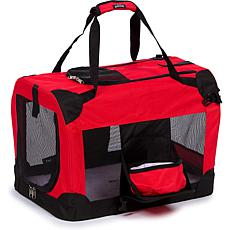 Pet Life Extra-Large Folding Deluxe 360 Vista View House Pet Crate