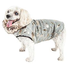 Pet Life Luxe Gold-Wagger Gold-Leaf Designer Fur Dog Coat