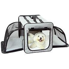 Pet Life Medium Expandable Collapsible Travel Pet Dog Crate