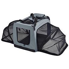 Pet Life Medium Soft Folding Collapsible Expandable Pet Dog Crate