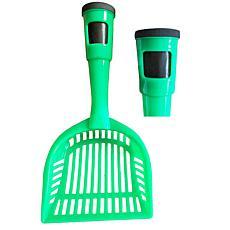 Pet Life Pooper Scooper Litter Shovel With Built-In Waste Bag Holder