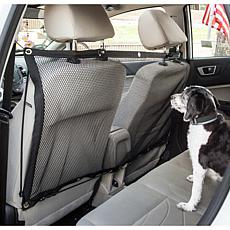 Pet Life Rectangular Easy-Hook Mesh Backseat Car Safety Barrier