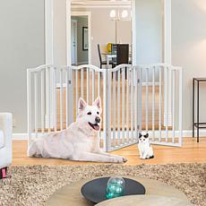 Pet Pal Freestanding 4-Panel Pet Gate - White