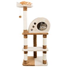 PETMAKER 4-Tier Cat Tree Scratching Posts,  Cat Condo  Bed and Toy
