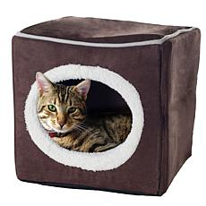 PETMAKER Cozy Cave Enclosed Cube Pet Bed