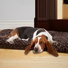 PETMAKER Cushion Pillow Furry Pet Bed - Chocolate