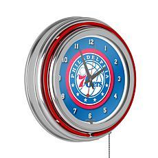 Philadelphia 76ers Double Ring Neon Clock