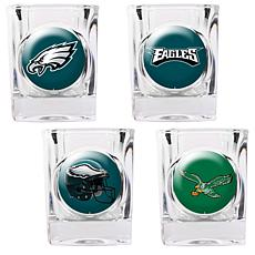 Philadelphia Eagles 4pc Collector's Shot Glass Set