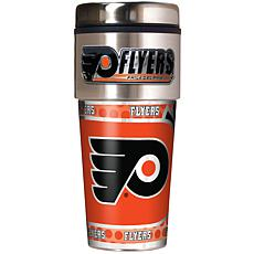 Philadelphia Flyers Travel Tumbler w/ Metallic Graphics and Team Logo
