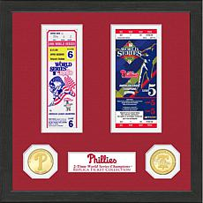 Philadelphia Phillies 2-Time World Series Ticket Collection