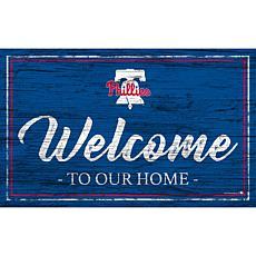 "Philadelphia Phillies Team Color Welcome Sign - 11x19"""