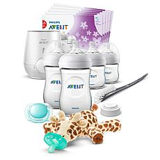 Philips Avent Natural All-In-One Baby Gift Set with Snuggle Giraffe